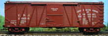 Atlas O CNJ 40' single sheathed box car (arched lettering)  3rail or 2rail