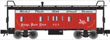 Atlas O NKP bay window caboose, 3 rail