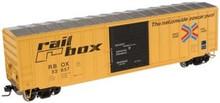 Atlas O  Railbox (large logo) 50' box car, 3 or 2 rail