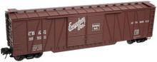 Atlas O CB&Q 50' single sheathed box (ew), 3 or 2 rail