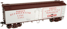 Atlas O White Frig Lines  36' reefer,  3 rail