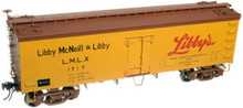 Atlas O Libby's  36' reefer,  3 rail