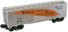 Atlas O Industrial Rail WP (silver) box car,3 rail, 027