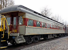 Golden Gate Lackawanna  observation car , 2 rail