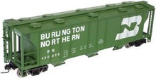 Atlas O BN  40'  covered hopper, 3 or 2 rail