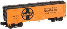 Atlas O Industrial Rail Santa Fe  reefer, 3 rail, 027