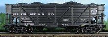 Atlas O B&O  composite 2 bay Hopper, 3 rail