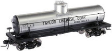 Atlas O Taylor Chemical 8000 gallon  tank car, 3 or 2 rail