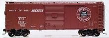 Atlas O Rock Island 40' (1950's-70's) steel box car,  3 or 2 rail