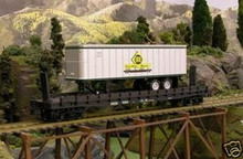 Weaver PDT Exclusive  Erie  piggyback 50' flat car w/trailer