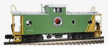 Atlas O Northern Pacific (green)  Standard cupola caboose, 3 rail