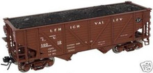 Atlas O Lehigh Valley  composite 2 bay Hopper, 3 rail