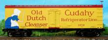 Atlas O Old dutch/cudahy  36' reefer, 3 rail or 2 rail