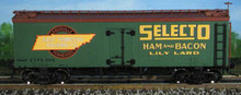 Atlas O Selecto Ham and Bacon 36' reefer, 3 or 2 rail