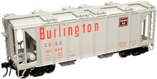 Atlas O  CB&Q  (burlington red/gray) ACF Covered Hopper car