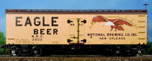 Atlas O  Eagle Beer 36' reefer,  3 rail or 2 rail
