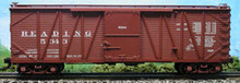 Atlas O Reading single sheathed box car, 3 rail or 2 rail
