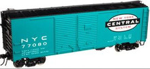 Atlas O NYC AAR 40' Double Door  steel box car, 3  or 2 rail