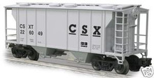 Weaver CSX PS-2 covered  hopper car, 3 rail or 2 rail
