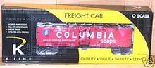 K-line  Columbia Soups  wood side reefer,  3-rail
