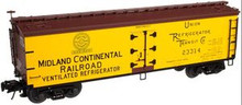 Atlas O Midland Continental RR 40' wood reefer, 3 rail or 2 rail