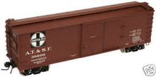 Atlas O Santa Fe  40' double sheathed (wood) box car, 3 or 2 rail