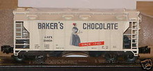 Weaver special run Bakers Chocolate 34' PS-2 covered hopper car, 3 or 2 rail