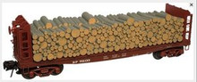 Atlas O SP 40' Pulpwood flat car, 3  or 2 rail