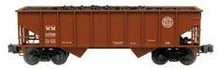 Weaver WM 2 bay hopper car, 3 rail or 2 rail