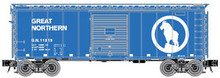 Atlas O GN (sky blue) 40' (PS-1)  box car,  3 rail or 2 rail