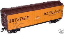 Atlas O Western Maryland  40' steel reefer, 3 or 2 rail