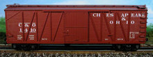 Atlas O C&O  40'  single sheathed box car, 3 or 2 rail