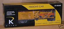 K-line IGA Food Stores  wood side reefer,  3-rail