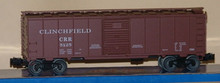Weaver uncataloged Clinchfield 40' ARA steel box car, 3 or 2 rail
