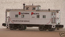 MTH Railking scale Southern Pacific (silver) center cupola caboose, 3 rail