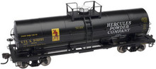 Atlas O Hercules Chemical 11,000 gal tank car, 3 rail or 2 rail