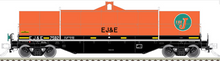 Atlas O EJ&E 42' Coil Steel Car, 3 rail or 2 rail