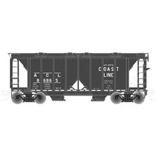 Atlas O ACL ACF 34' AC-2 Covered Hopper car, 3 rail or 2 rail