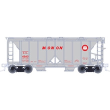 Atlas O MONON ACF 34' AC-2 Covered Hopper car, 3 rail or 2 rail