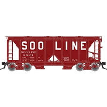 Atlas O SOO LINE ACF 34' AC-2 Covered Hopper car, 3 rail or 2 rail