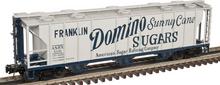Atlas O Domino Sugar 40' 3 Bay PS-2 Covered Hopper, 3 rail or 2 rail