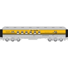 Atlas O 60' Rio Grande (yellow/black)  RPO Car, 3 rail