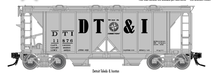 Atlas O  DT&I  34'  ACF  Covered Hopper