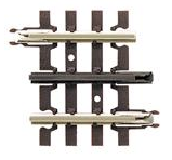 "Atlas O 3 rail package of 4 pieces 1 3/4"" straight  track"