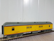 Golden Gate Depot UP yellow 70' harriman style baggage car , 3 rail or 2 rail