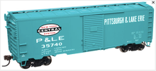 Atlas O P&LE AAR 40' Steel Box car, 3 rail or 2 rail