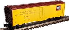 Atlas O Burlington (CB&Q)  40' steel reefer, 3 rail or 2 rail