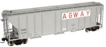 Atlas O Agway PS4427 50' Covered Hopper, 3 rail or 2 rail