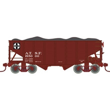 Atlas O Santa Fe  2 Bay Fishbelly Hopper, 3 rail or 2 rail