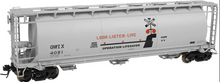 Atlas O Genesee & Wyoming  Cylindrical Covered  Hopper, 3 rail or 2 rail
